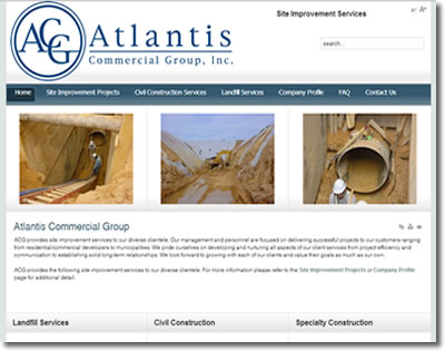 Atlantis CGI needed a clean and professional website