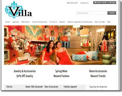 Villa Savannah is an Ecommerce site